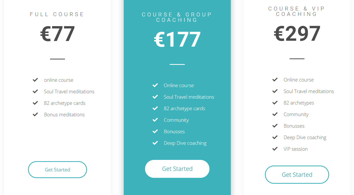 payment offers soul mission course